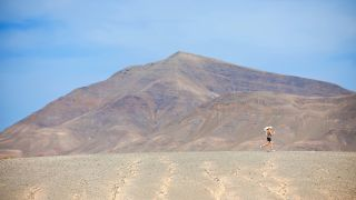 runner in a desert