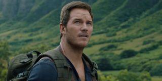 Chris Pratt hiking in Jurassic World 3