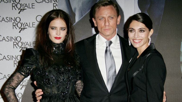 Daniel Craig doing Blue Steel with Casino Royale co-stars at launch event