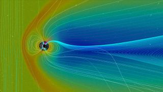 The magnetic field surrounding Earth is constantly fluctuating in strength.