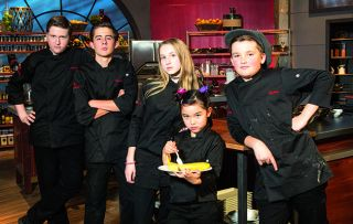 Five junior chefs are up against adult professional chefs