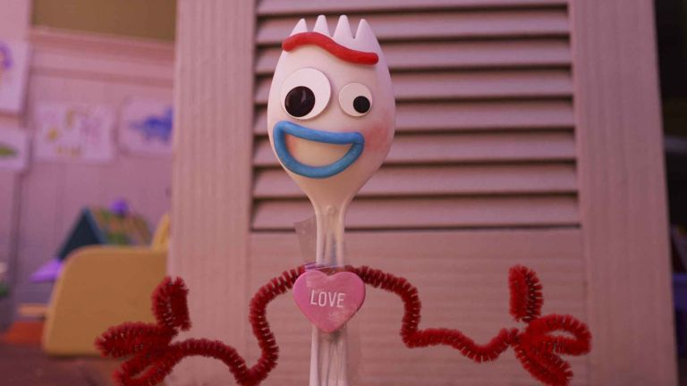 Disney Plus: Forky with 'love' sticker on