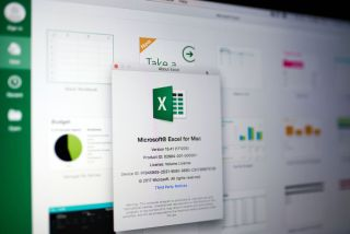 Microsoft Excel on a Mac.