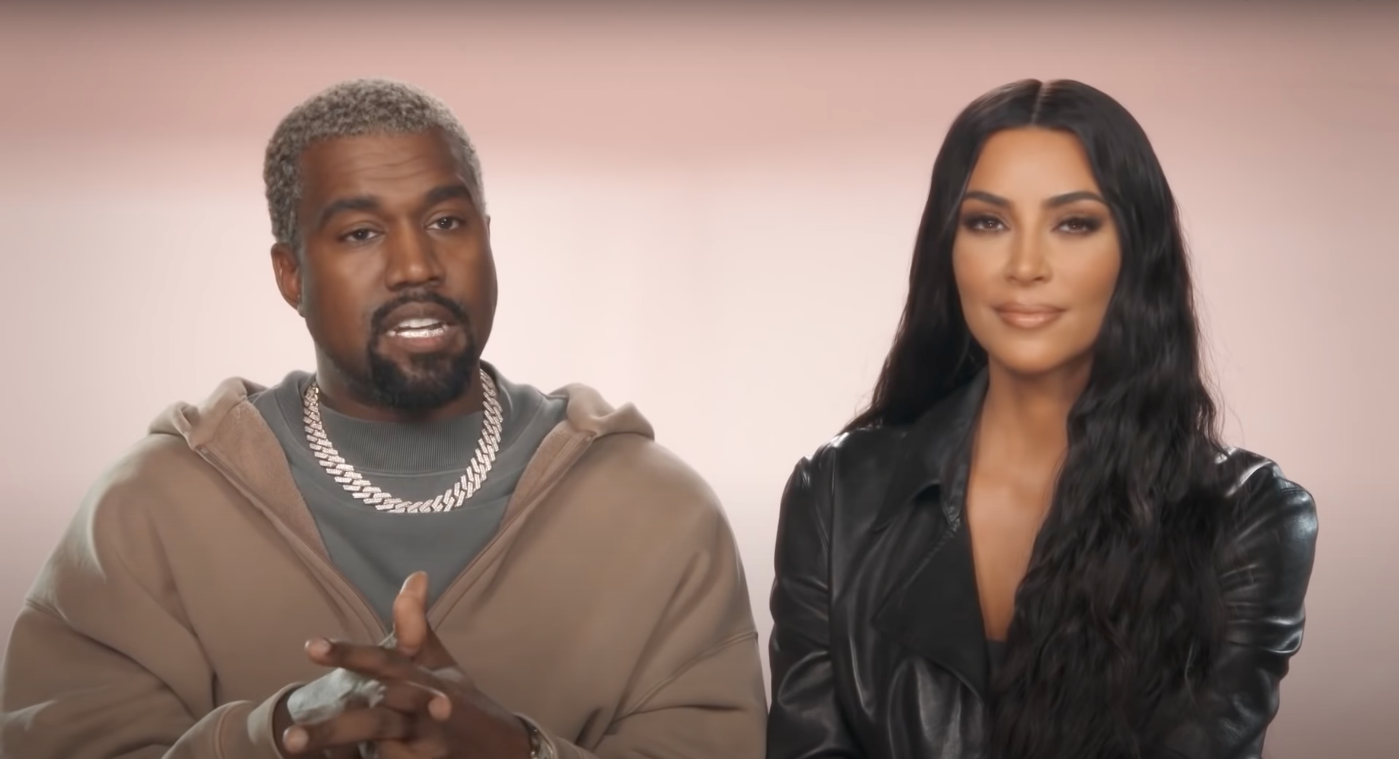 Screenshot of Kanye West and Kim Kardashian from an episode of Keeping Up With The Kardashians.