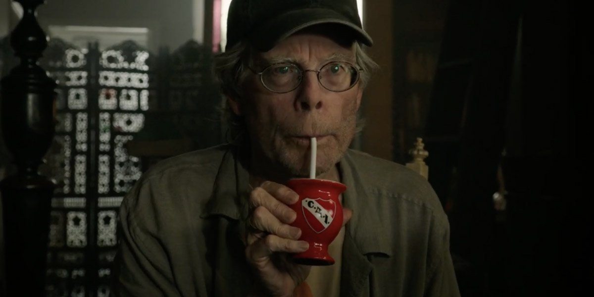It Chapter 2 Stephen King sips his drink creepily