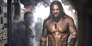 shirtless Jason Momoa in Aquaman