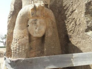 A statue that may depict Queen Tiye, the grandmother of King Tut, has been unearthed near Luxor.