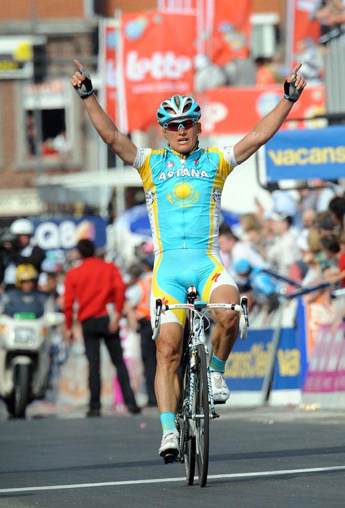 Alexandre Vinokourov wins, Liege-Bastogne-Liege 2010