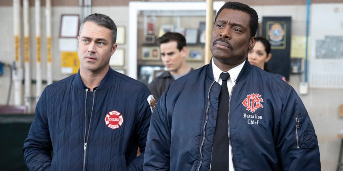 Taylor Kinney and Eamonn Walker on Chicago Fire