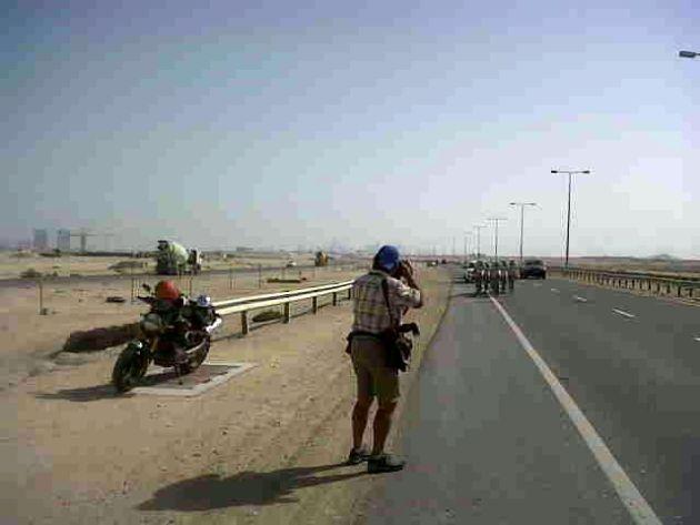 Graham Watson takes photo, Tour of Qatar 2012