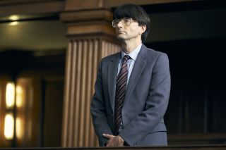 Dennis Nilsen (David Tennant) on trial in ITV's Des.