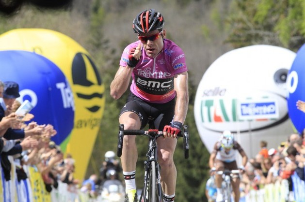 Cadel Evans wins stage three of the Giro del Trentino 2014