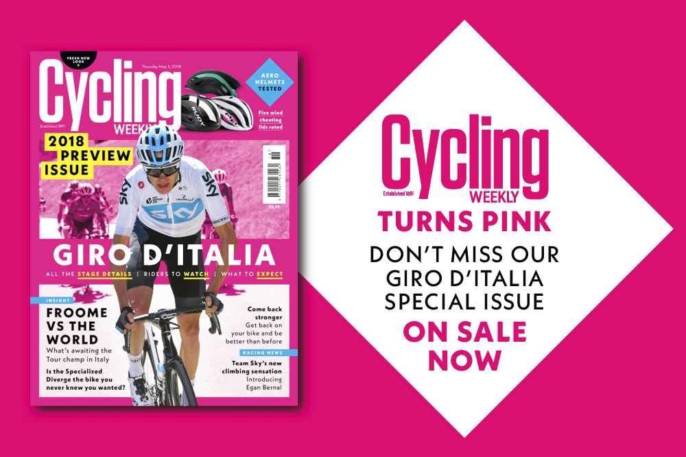 Cycling Weekly magazine turns pink