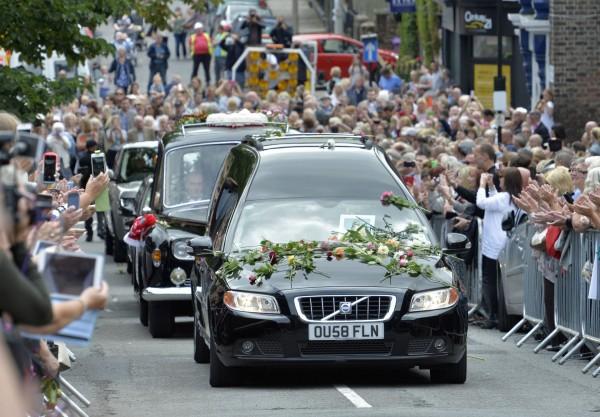 Cilla Black's funeral hearse
