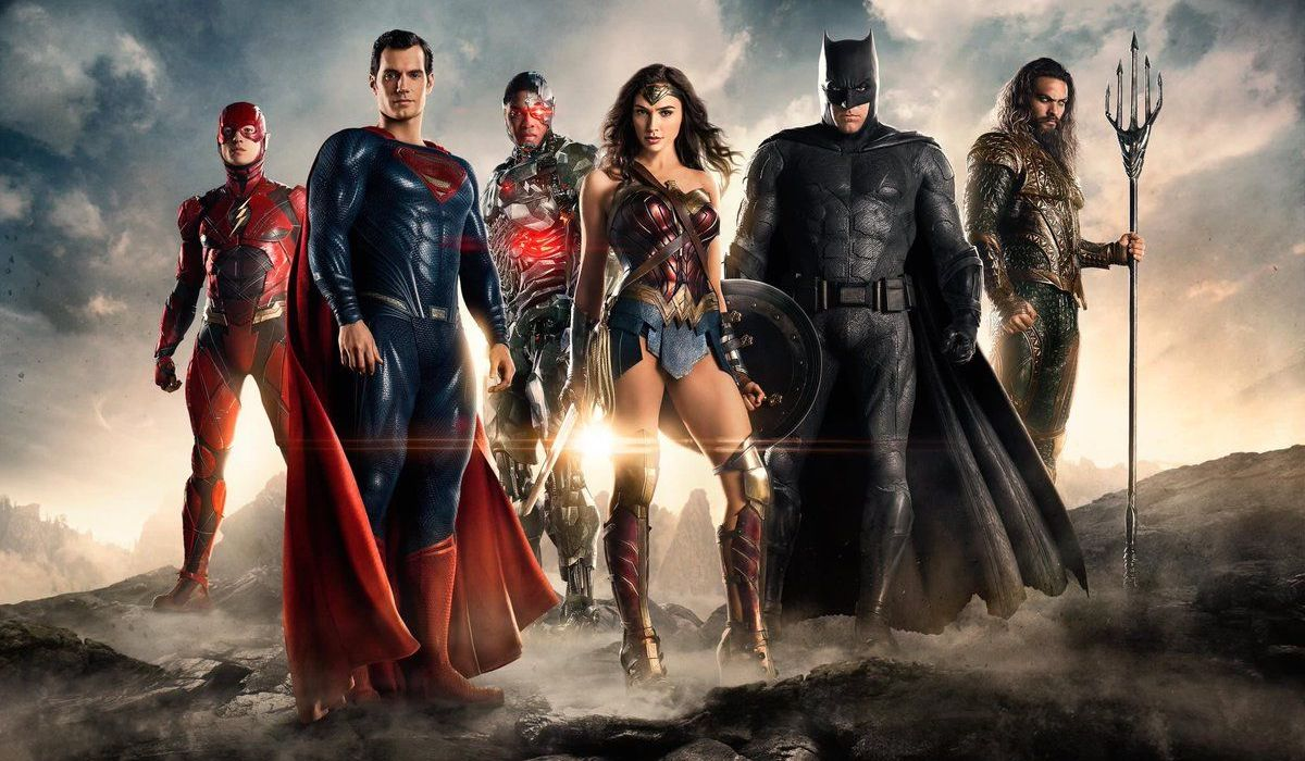 Superman with other Justice Leaguers