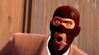 The TF2 spy looks shocked!