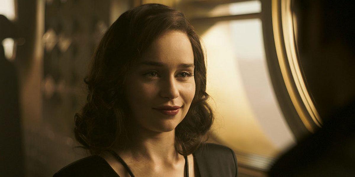 Emilia Clarke as Qi'ra in Solo: A Star Wars Story