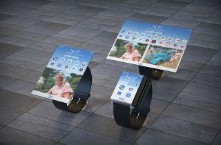 IBM foldable watch.