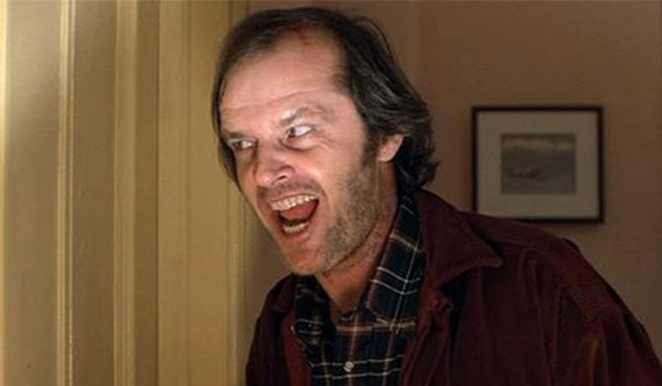 Here's Johnny! Jack Nicholson as Jack Torrance in The Shining