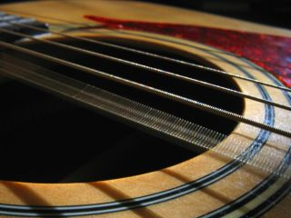 Guitar strings, simple harmonic motion