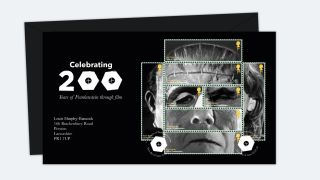 Frankenstein stamps by Louis Murphy-Hancock