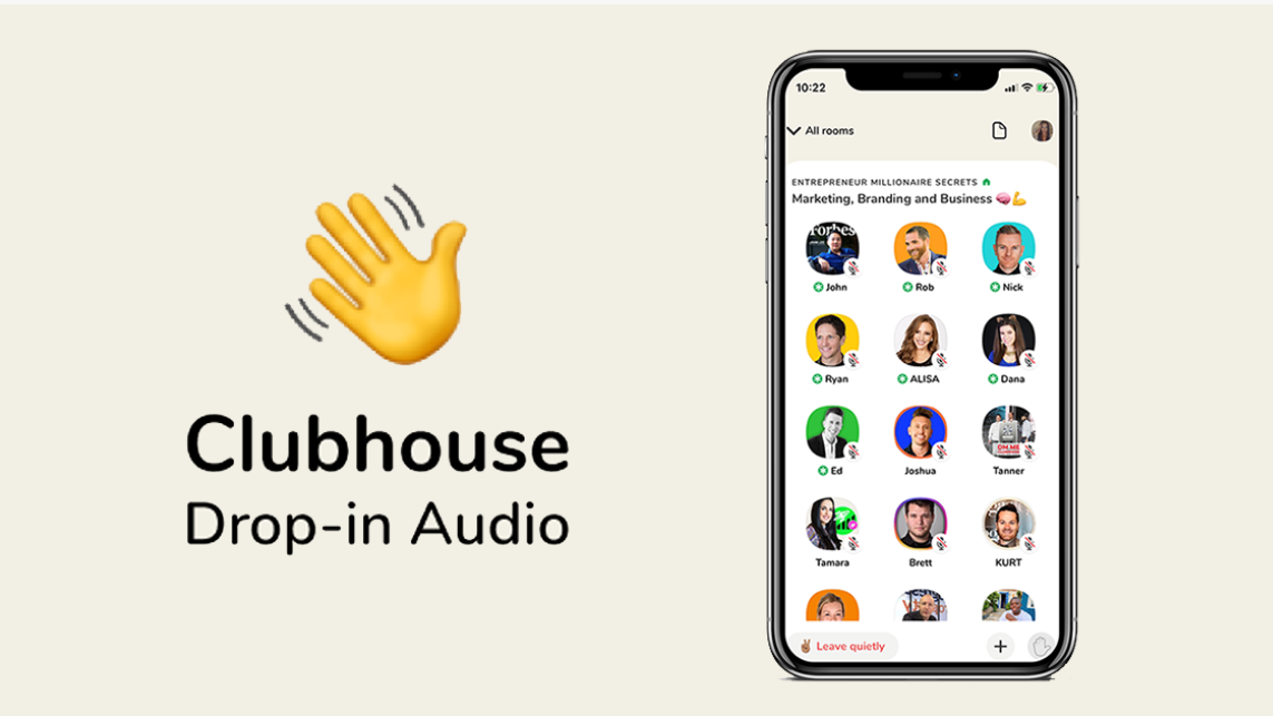 Screenshot of Clubhouse app