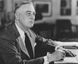 The idea of using a president's first 100 days in office as a way to evaluate him began in 1933 with Franklin D. Roosevelt, shown here in the White House in 1941.
