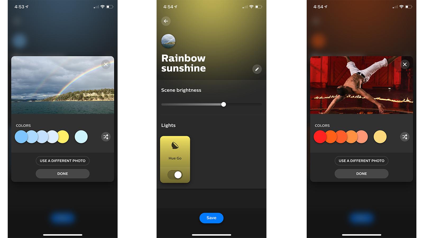 Philips Hue Go 2 custom light setup in app