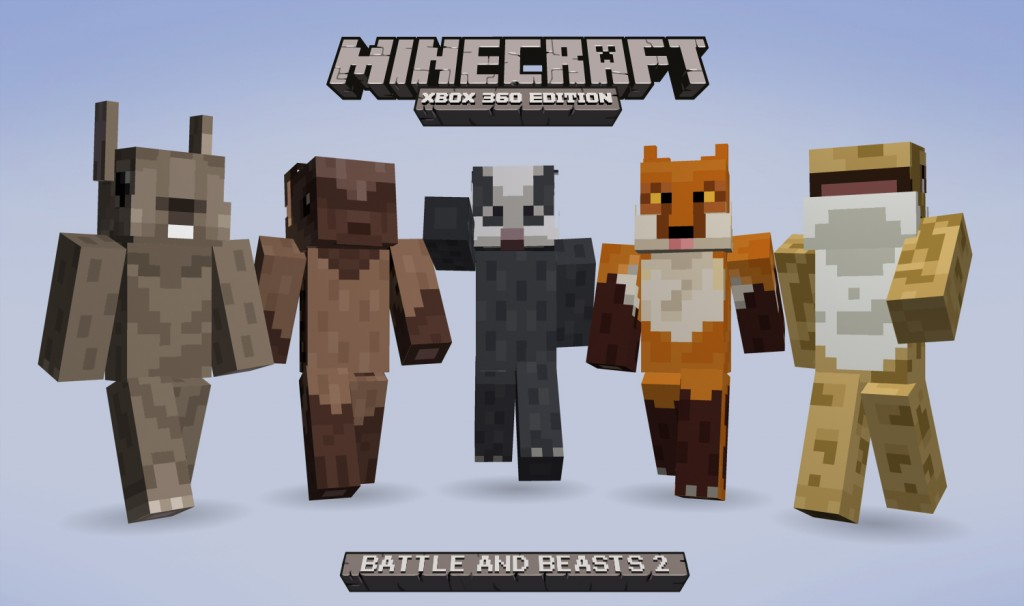 Minecraft Battle And Beasts Skin Pack 2 Announced For Xbox