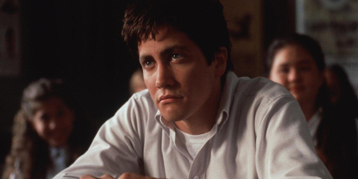 Donnie Darko Jake Gyllenhaal scowls in class