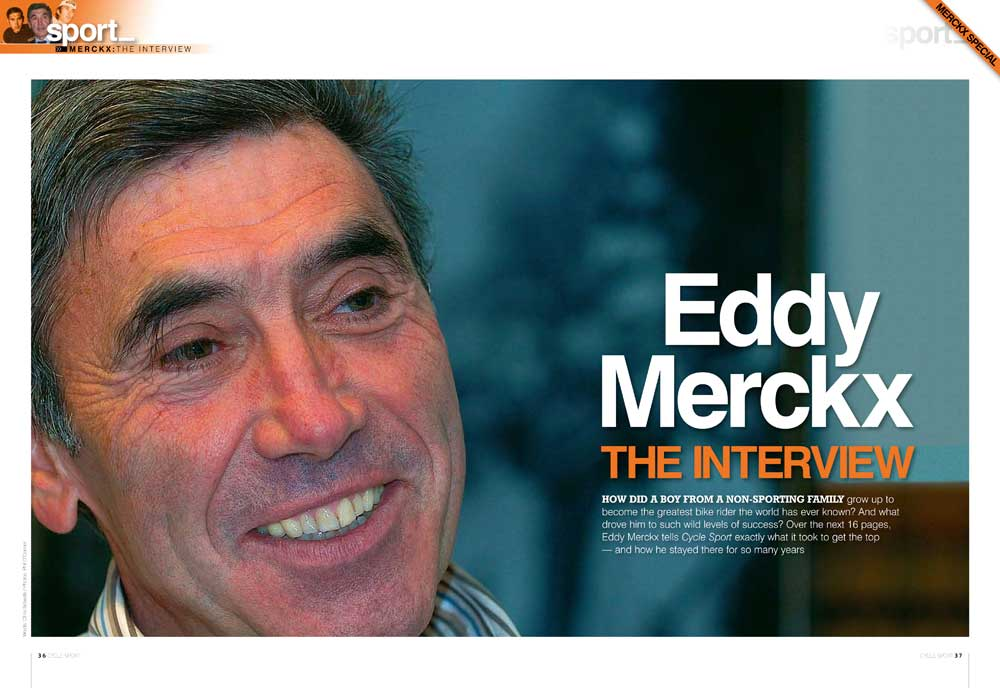 eddy merckx, cycle sport, interview