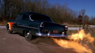 Sometimes They Come Back flaming car