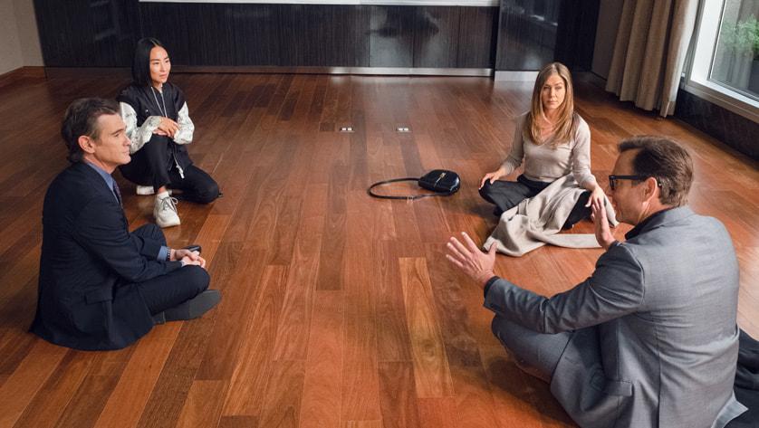 Jennifer Aniston, Will Arnett, Greta Lee, and Billy Crudup in 'The Morning Show'.