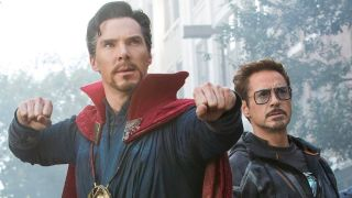 Doctor Strange and Iron Man in Avengers: Infinity War, one of 2018's most Googled movies
