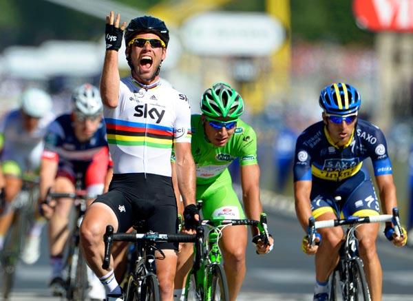 Mark Cavendish wins final stage, Tour de France 2012, stage 20