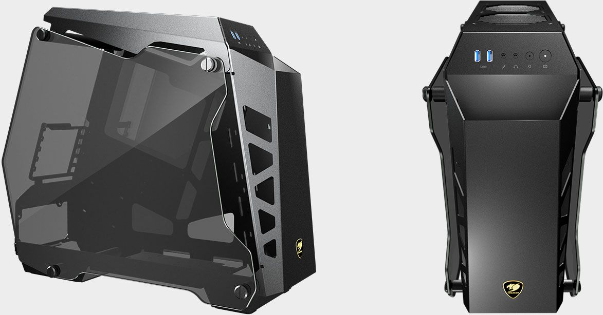 Cougar shrinks its unconventional Conquer case for compact builds