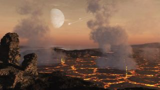 Asteroid impacts created infernal conditions on the young Earth.