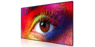 Optoma FHDQ130 QUAD LED display delivers 130-inch images with high contrast and color.