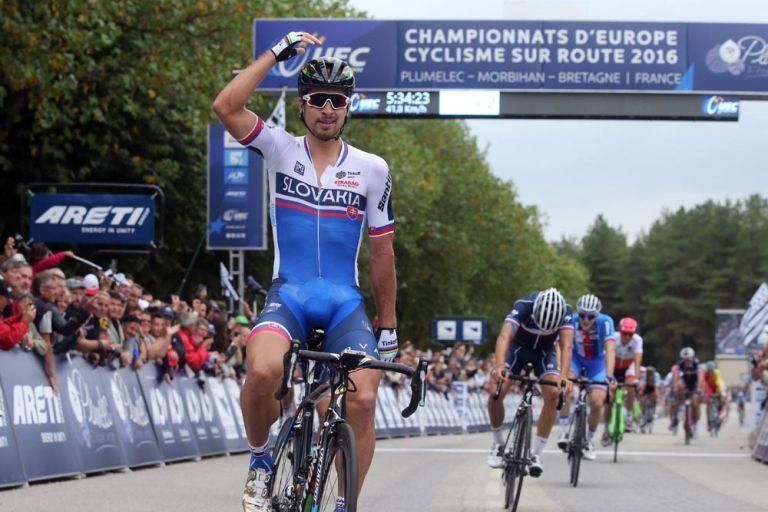 Peter Sagan wins the mens Elite 2016 European Road Championships