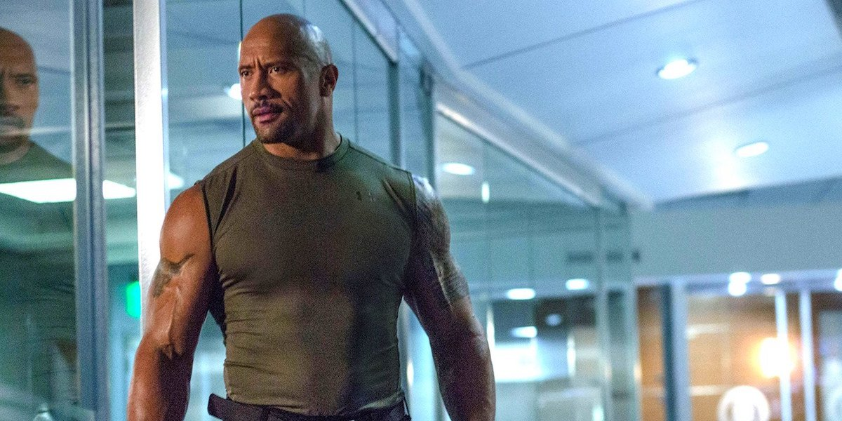 Dwayne Johnson in The Fast and the Furious 7