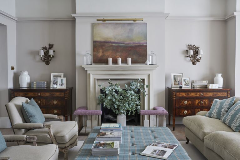 Living room by Sims Hilditch looking towards fireplace
