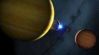 The planets will one day be sent bouncing off each other's gravity.