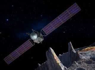 NASA Mission to Metal Asteroid Psyche: Artist's Concept