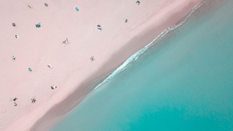 beach scene for an article on nudist beaches