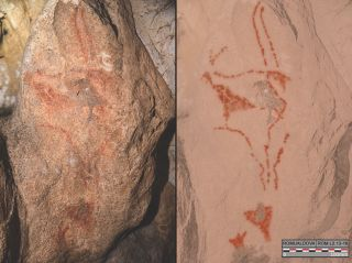 Inside the Romualdova cave in Croatia, scientists found drawings of an ibex as well as lines and shapes.