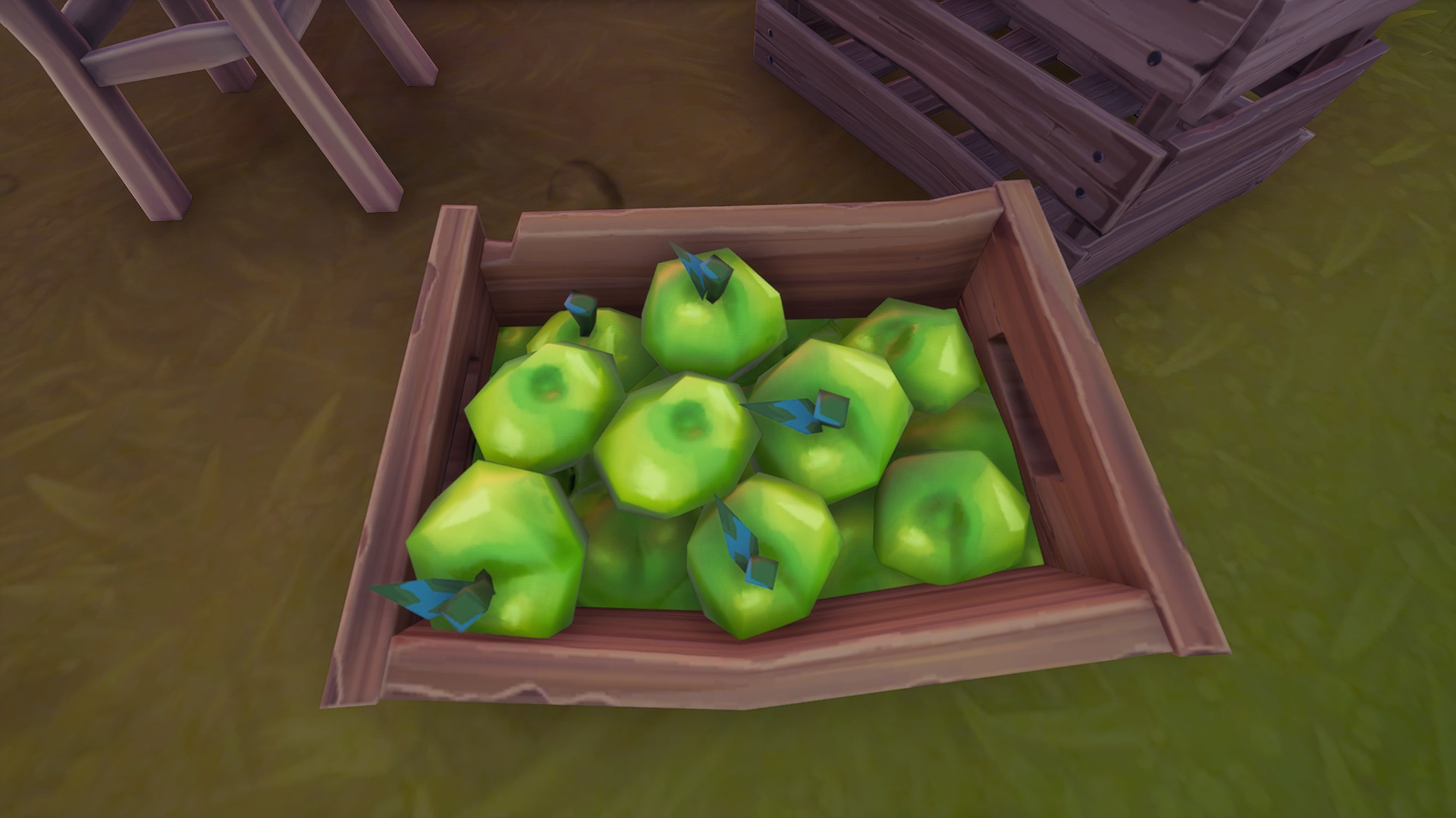 Where to destroy apple and tomato boxes at Orchard Farmers Market in Fortnite