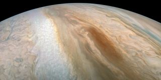 Jupiter's glossy cloud tops