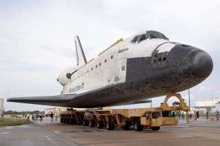 Atlantis on Orbiter Transporter System