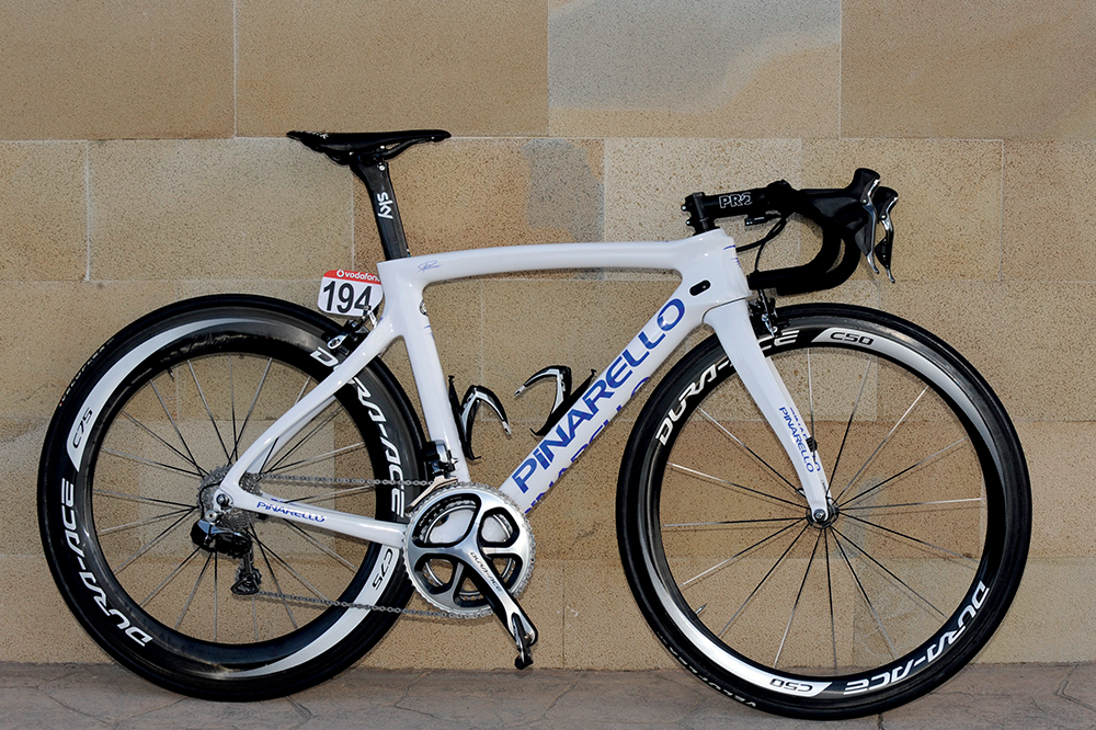 Peter Kennaugh s white Pinarello F8 - Cycling Weekly cec35bd10