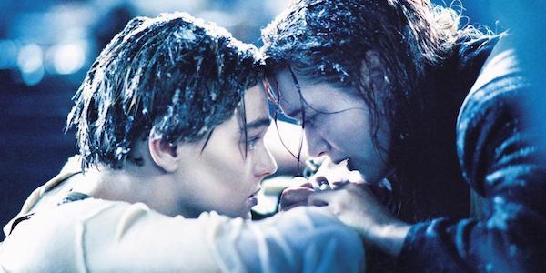 Jack and Rose in titanic, ending door scene
